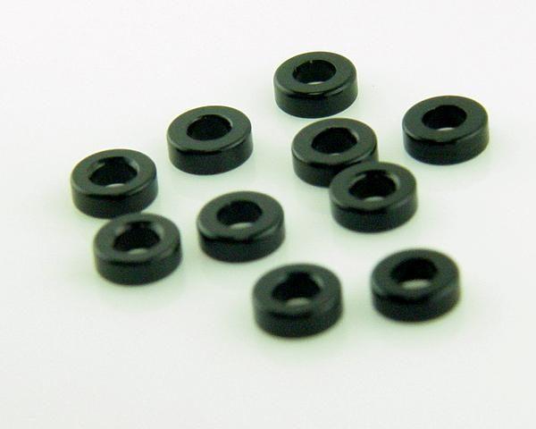 KP-338-BLK - 2 x 6MM Aluminum Washers - Black (10)