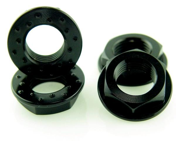 KP-344FN-BLK - 17MM Flanged Wheel Nuts (4) - Coarse Thread