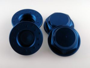 KP-349FN - 17MM Flanged Wheel Nuts (4) - Coarse Thread