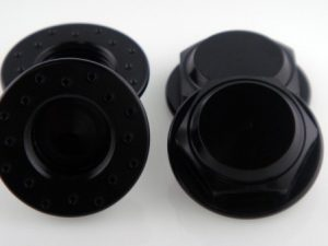 KP-348FN-BLK - 17MM Flanged Wheel Nuts (4) - Fine Thread