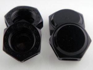 KP-349N-BLK - 17MM Wheel Nuts (4) - Coarse Thread