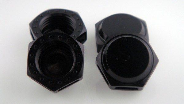 KP-348N-BLK - 17MM Wheel Nuts (4) - Fine Thread