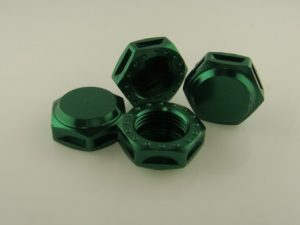 KP-349N-GRN - 17MM Wheel Nuts (4) - Coarse Thread