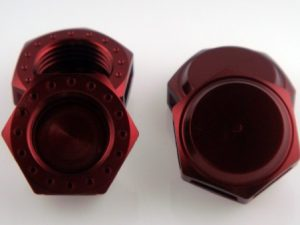 KP-348N-RED - 17MM Wheel Nuts (4) - Fine Thread