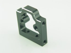 KP-435-BLK - Thin Block Radio Plate/Servo Mount